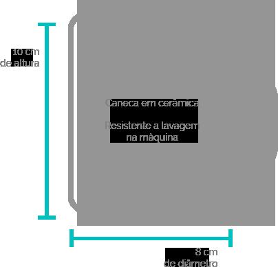 dimensões caneca ceramica personalizada